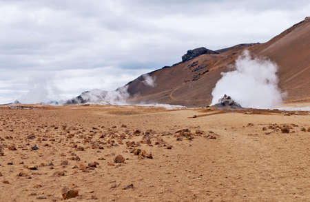 Area around the volcano Krafla in north Iceland. photo
