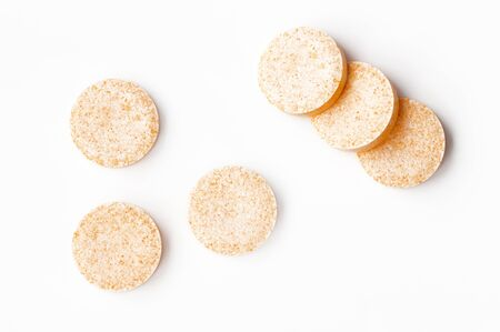 Effervescent tablets on white background, view from above Stock Photo - 15203221