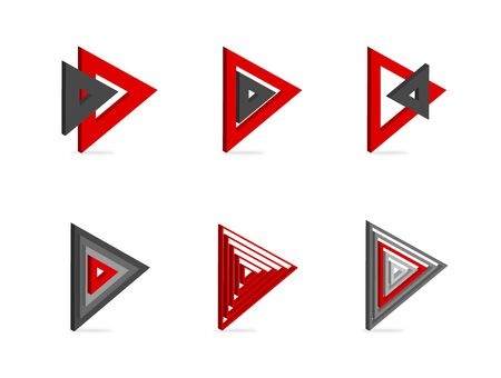 Set of icons pointer arrows 3d Stock Vector - 15757399