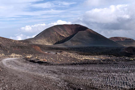 Secondary craters on volcanic Mount Etna, Sicily photo