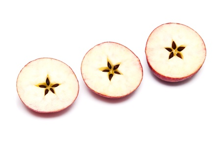 apple halves with the shape of the star in the middle photo