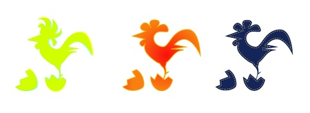 image of a rooster on white background Vector