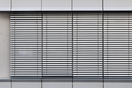 A shot of gray window sunblind  the background Stock Photo - 22928910