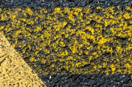 Closeup of the yellow markings on a road Stock Photo - 23720421