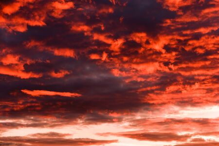 afterglow: Evening sky and clouds. An afterglow