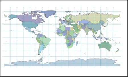 colored map of world