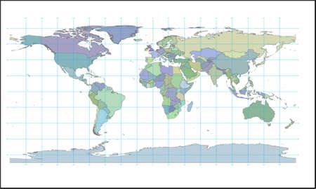 farbige Karte der Welt