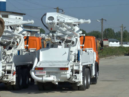 pumper: cement pumper truck