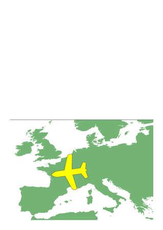 Europa und Flugzeug