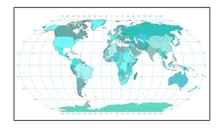 world map in blue