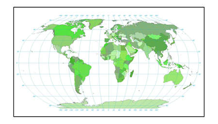 world map in green