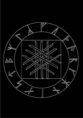 simbol: Orlog, Viking simbol del destino e rune  Vettoriali