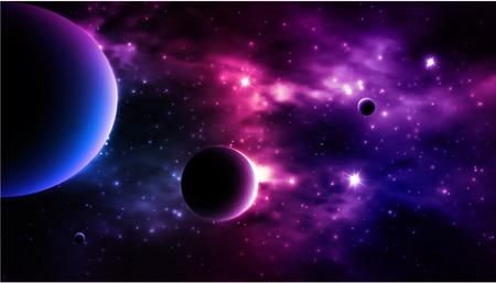 Fotorealistische Galaxy achtergrond. Vector illustratie