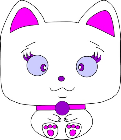 the darling: Darling cat for Your Desing on a white background. Raster version of a vector Stock Photo