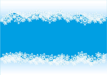 vector raster background: Decorative snowflake background.  Raster copy of a vector Stock Photo