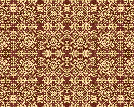 Kaleidoscope Gold seamless pattern for Your Desing. photo