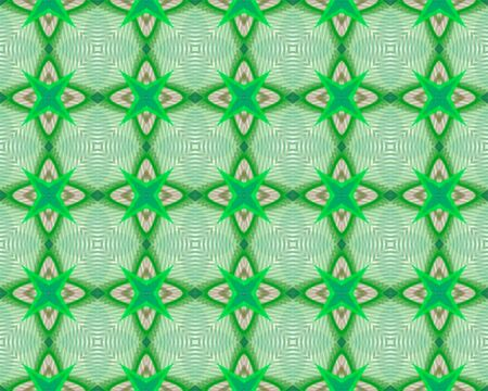 Kaleidoscope Green seamless pattern for Your Desing. photo