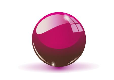 glass sphere: Glass sphere, claret vector ball Illustration