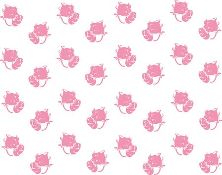 absurd: Baby background cats pink seamless.  illustration
