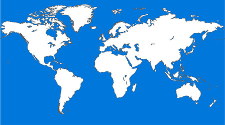 Blue similar world map. World map blank. World map vector. Banco de Imagens - 56499489