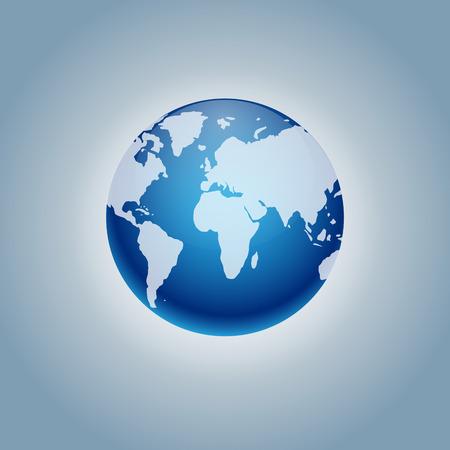 Planet Erde Symbol. Flat Planet Erde Symbol. Wohnung, Design, Illustration forweb und mobil, Infografiken. Earth-Symbol Grafik. Symbol isoliert auf Gradienten Hintergrund. Vektorgrafik