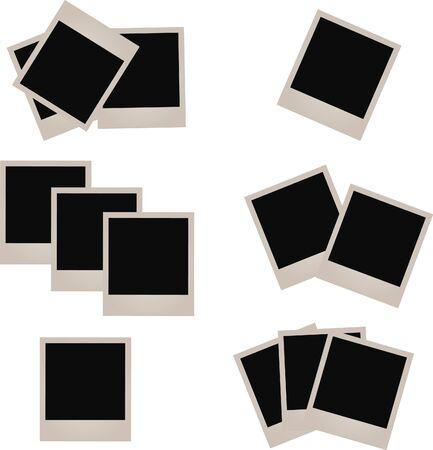 Set of photo frames,  illustration. Imagens
