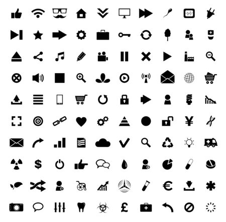 Set of 100 Quality icon. Fire Service icons , Medical icons , Media icons , Money icons , Food icons ,Mobile icons , Police icons ,Web icons , Camping icons, butterfly icons snowflakes icon.