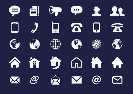 Internet icon set Contact. 30 elements .