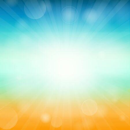 Summer time background - illustration. illustration of a glowing Summer time background