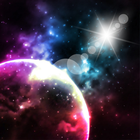 unusually: Galaxy background. Cosmic abstract illustration for Your design