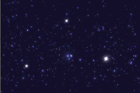 Universe filled with stars. Blue starry sky  background.