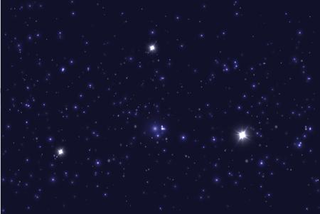stars sky: Universe filled with stars. Blue starry sky  background.