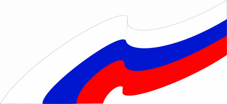 Russia flag of silk with copyspace for your text or images and white background.