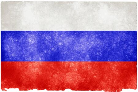 Painting flag Russia with white background.