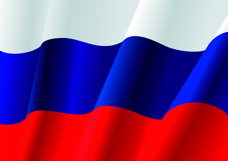 russian flag: Day of Russia 12 June. Independent Day of Russia. Typographic with the Russian Flag. Image for modern and responsive design