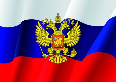 russian coat of arms. 12 june. Happy Russia day Imagens