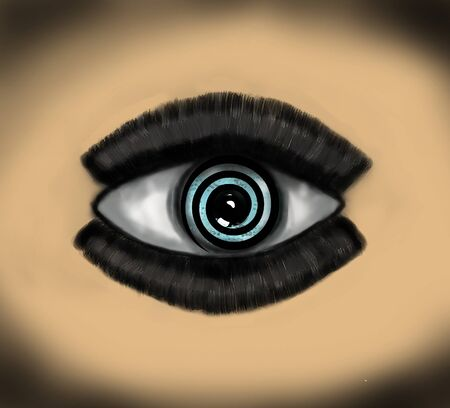 eyestrain: Hypnosis Spiral in eye. Illustration for Your desing