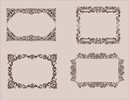 Elements of design. Frame, borders Vector graphics Vintage