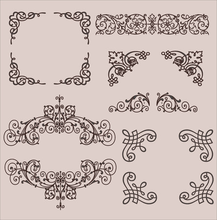 Frames. Decorative elements Vector set Vector Illustration