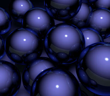 formulation: Abstract background. Blue ball 3d illustration Stock Photo