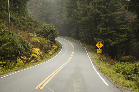 endless road: Long endless road on west coast