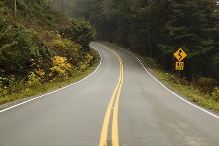 Lange unendliche Straße an der Westküste Standard-Bild - 38302773