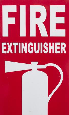 Rote und weiße Zeichen der Feuerlöscher-Box Standard-Bild - 51514871