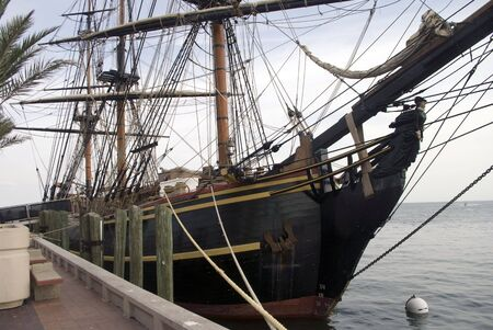 A Tall Ship in dock.