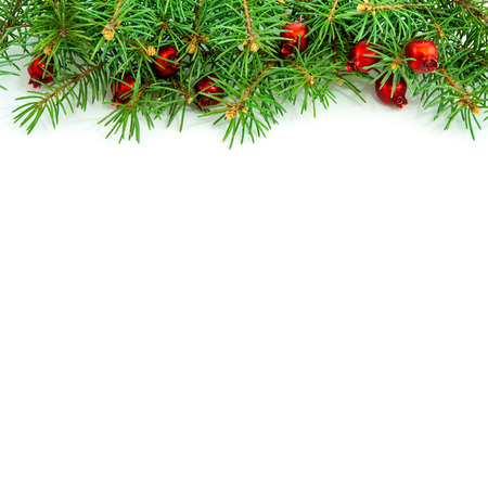 Christmas border design on the white background photo