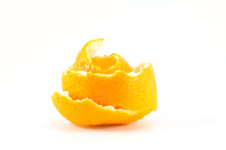 Mandarin or tangerine peel on white background Reklamní fotografie