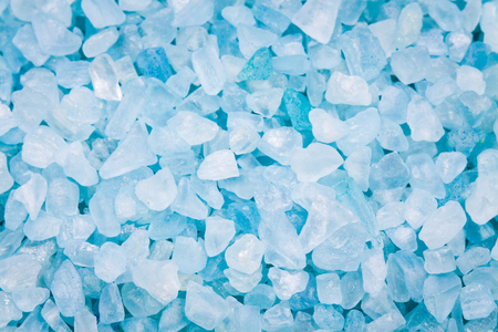 blue sea salt crystals as a background photo
