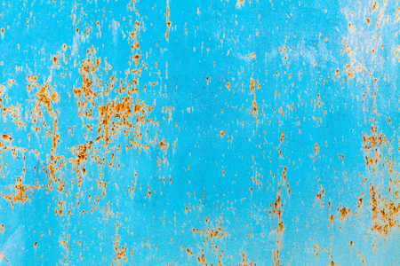 vintage rusty metal blue background horizontal photo