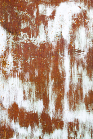 old rusty vintage orange white iron metal vertical background photo