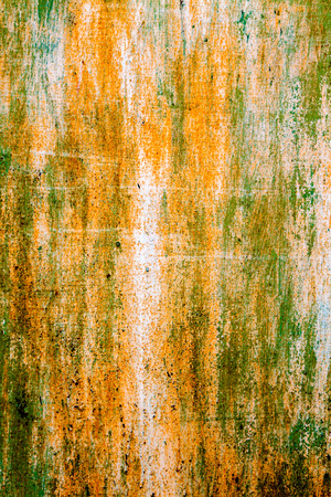 old rusty vintage metallic   yellow green vertical background photo
